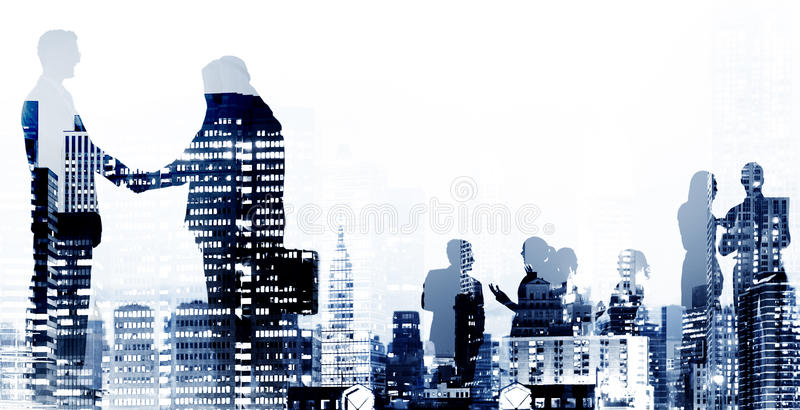 Business Handshake Agreement Deal White Collar Worker Concept royalty free stock photography