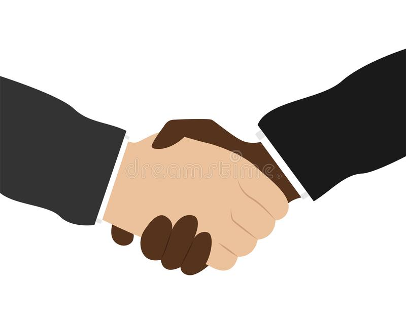 Business handshake. Bargaining. Business ethics. Flat vector illustration stock illustration