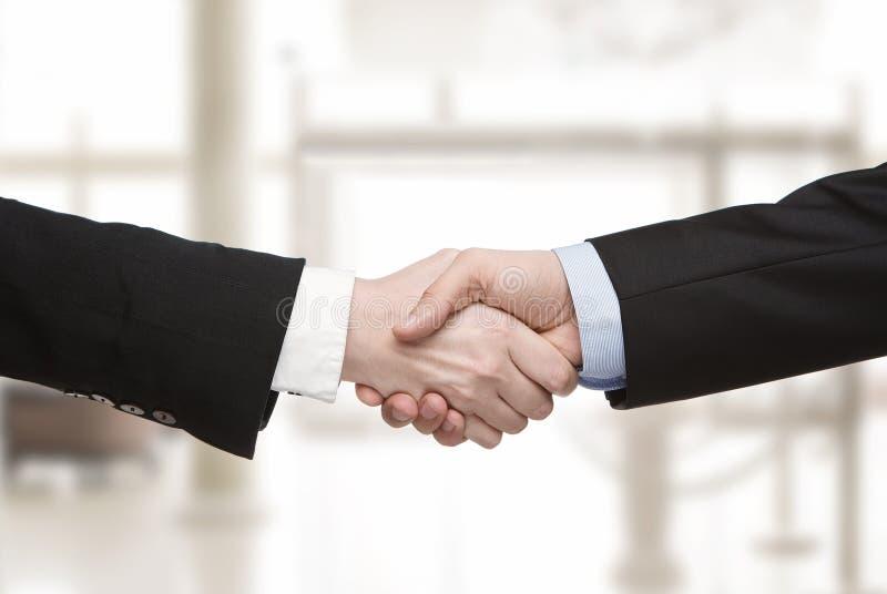 Business handshake. Close up of business handshake stock images
