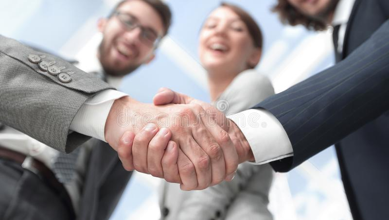 Business handshake.the concept of partnership royalty free stock images