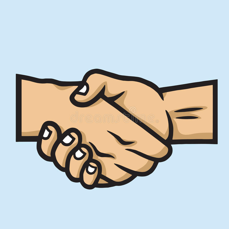 Business Handshake Contract Agreement. Vector Hand Drawn Illustration stock illustration