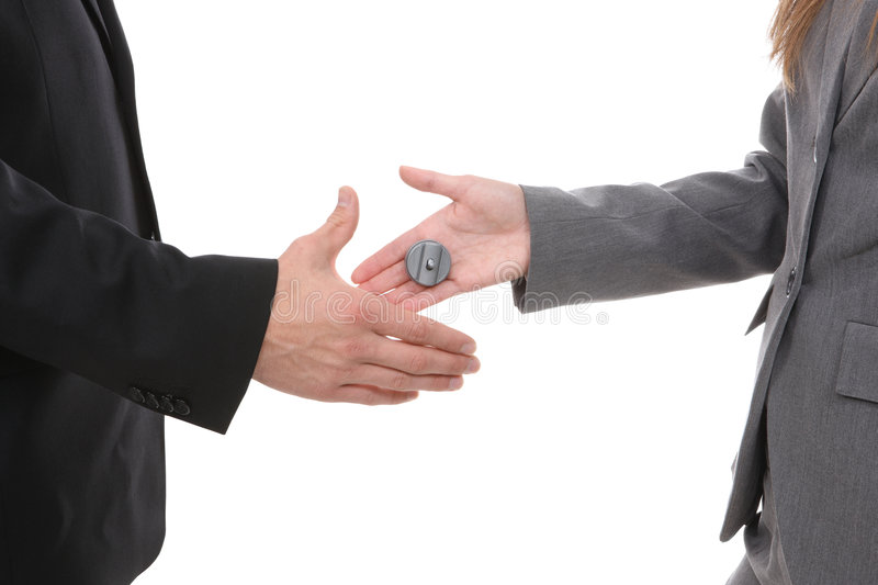 Business Handshake Joke Stock Image