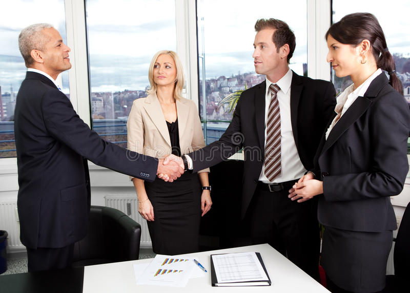 Download Business Handshake Over The Deal Stock Photo - Image: 26648240
