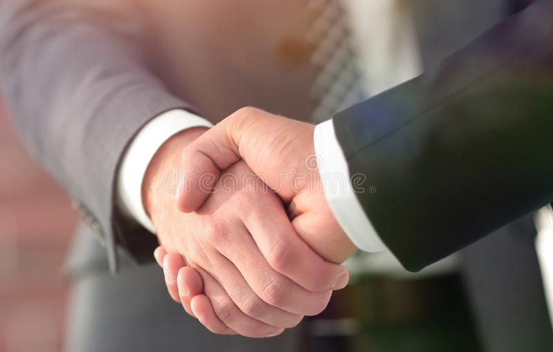 Business men giving a handshake. Business concept. Business handshake and business people. Business concept royalty free stock photos