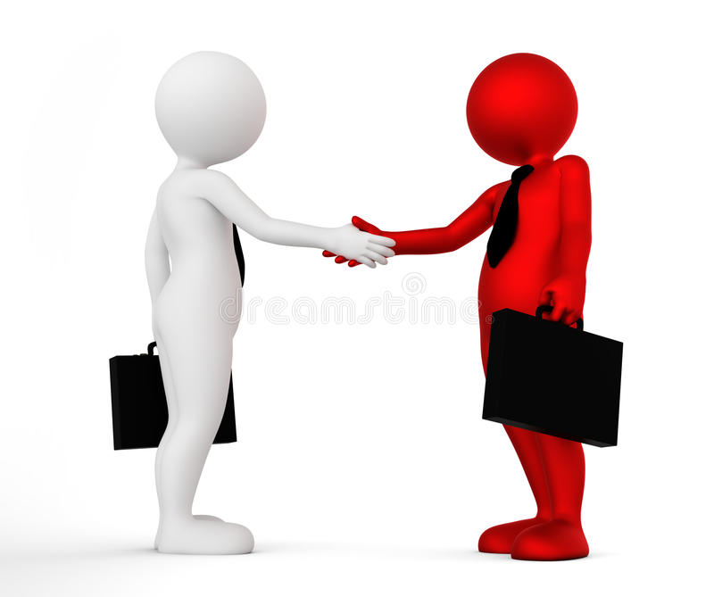 Business handshake. Ton man shaking hands. Deal, agreement, partner concept vector illustration