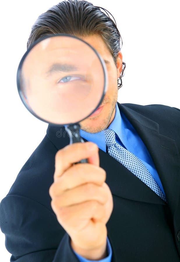 business handsome investigator στοκ εικόνα