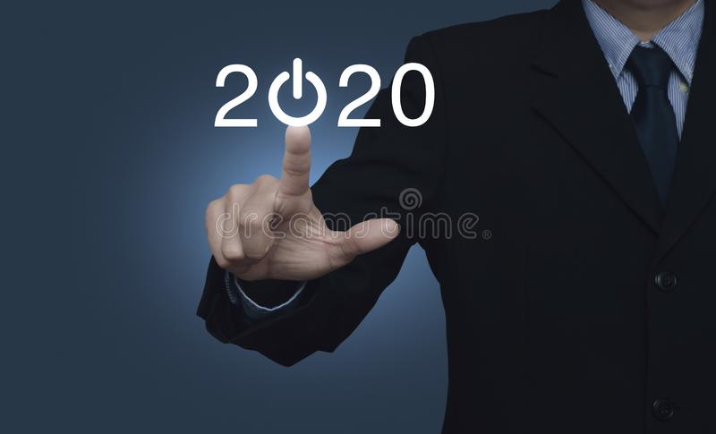 Business happy new year 2020 cover concept royalty free stock images