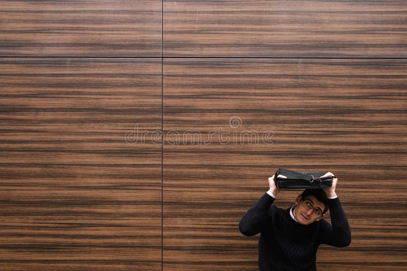 Business hardships difficulties work problems stock image