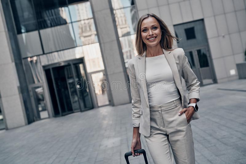 Business is her life. stock image