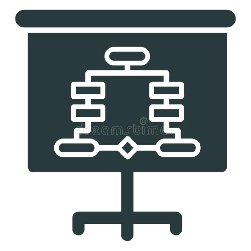 Business hierarchy, chain of ranking .  Vector icon which can easily modify or editable royalty free illustration