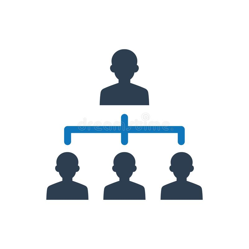 Business Hierarchy Icon royalty free illustration