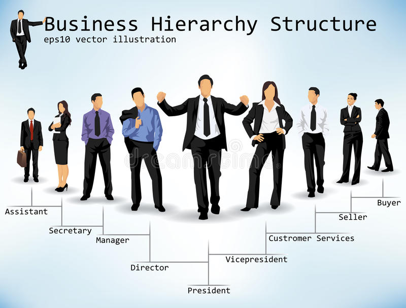 Business Hierarchy Structure royalty free illustration