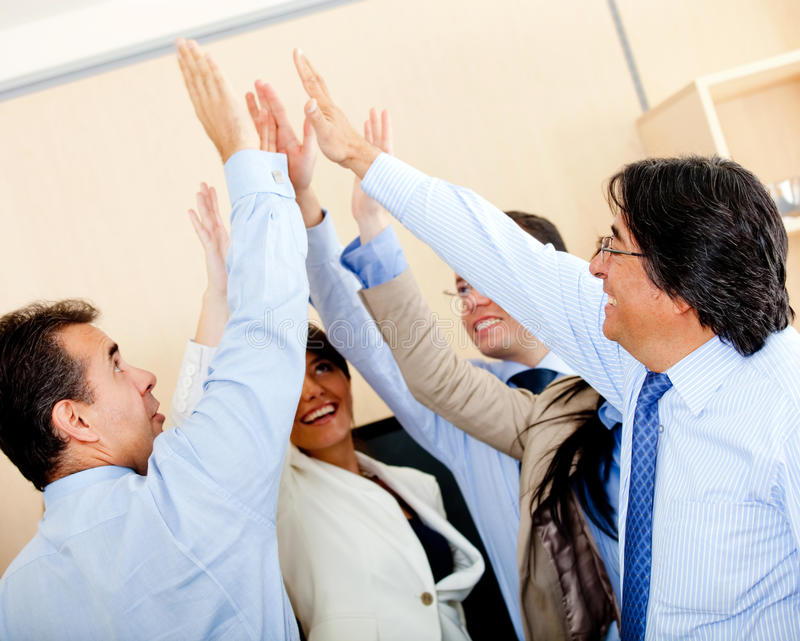Download Business high-five stock image. Image of girls, five - 22886633