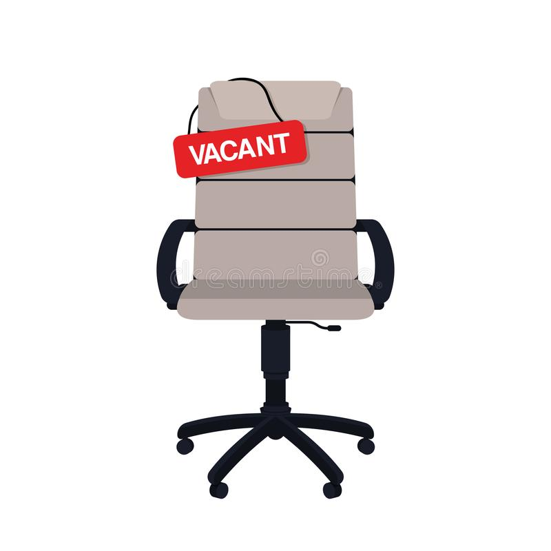 Business hiring and recruiting concept. Vacant position concept. Empty office chair with vacant sign