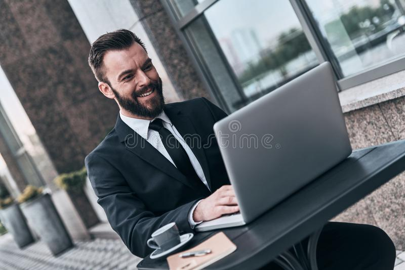 Business is his life. royalty free stock images