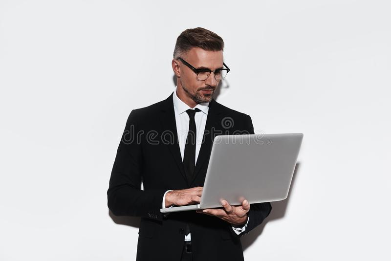 Business is his life. royalty free stock image