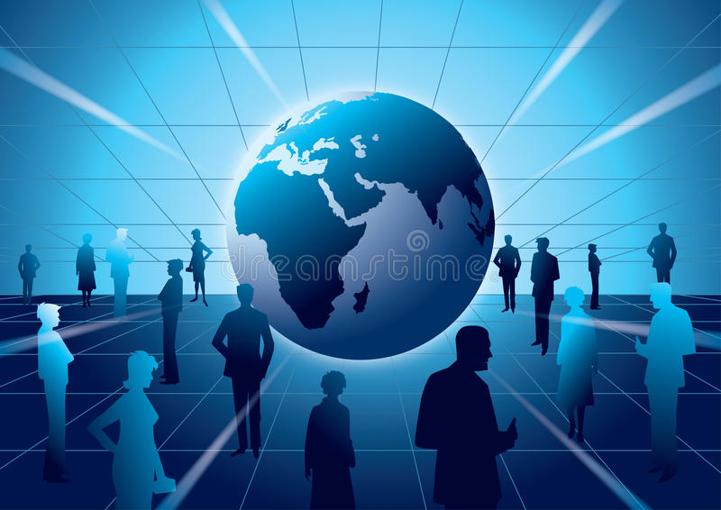 Business Horizon. People in the global business industry vector illustration