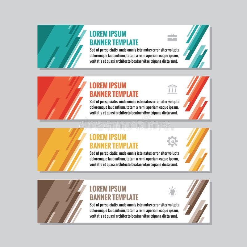 Business horizontal banner templates - vector concept illustration. Abstract geometric background. Creative layout. Graphic design. Element vector illustration