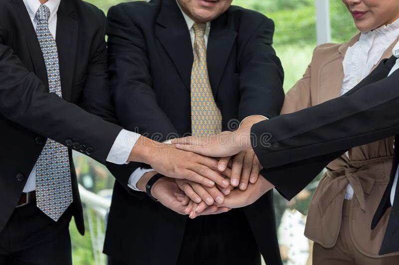 Business human hands were a collaboration stock photo