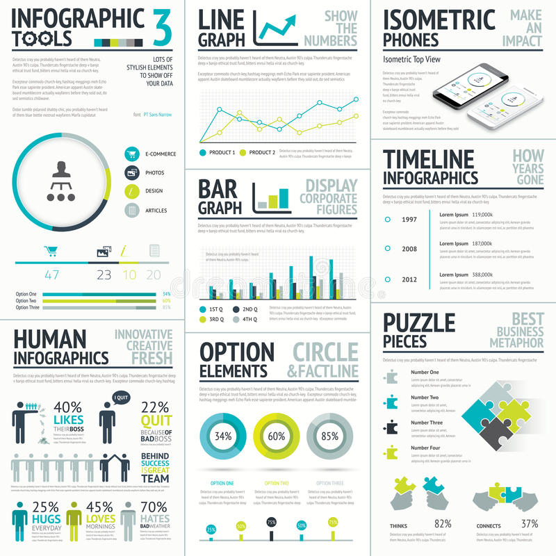 Business and human vector infographic element big stock illustration