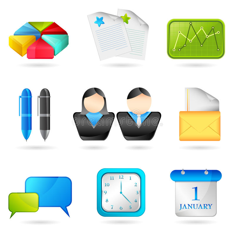Download Business Icon stock vector. Image of design, editable - 18582580