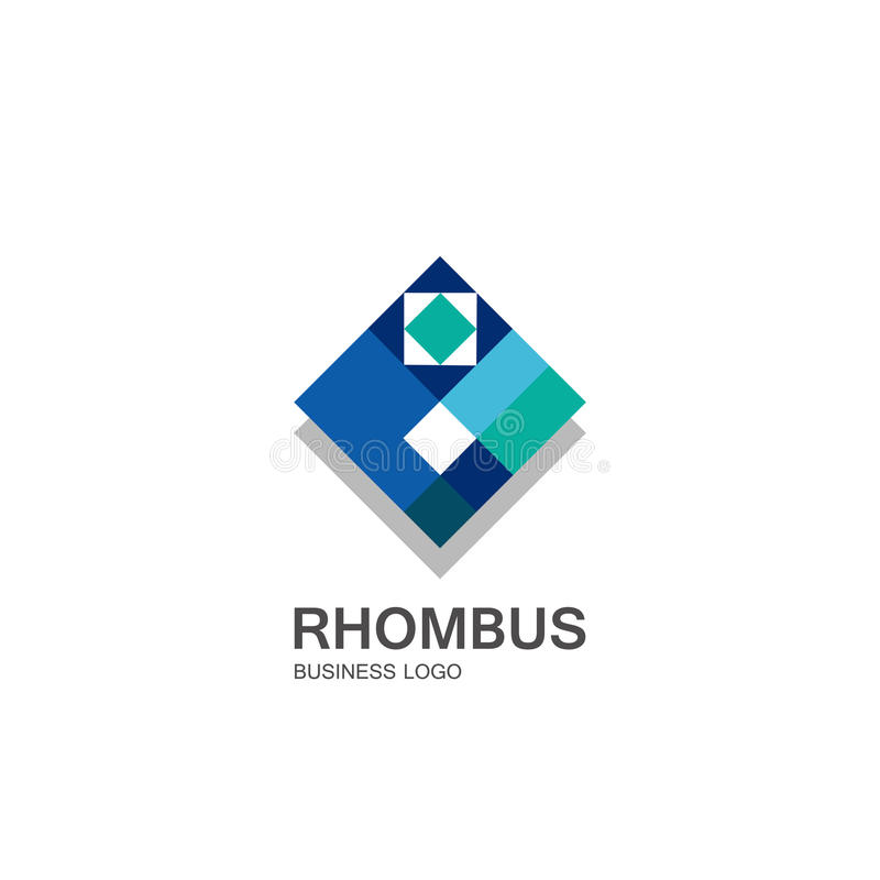 Business icon rhombus, flat polygonal rhombus, geometric design concept royalty free illustration