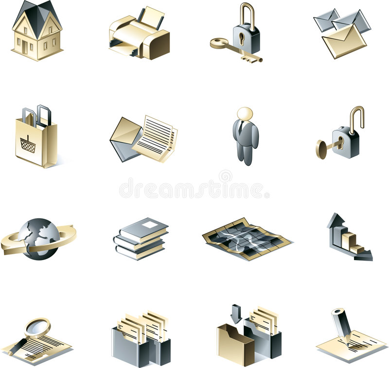 Business Icon Set. Good looking business icon set royalty free illustration