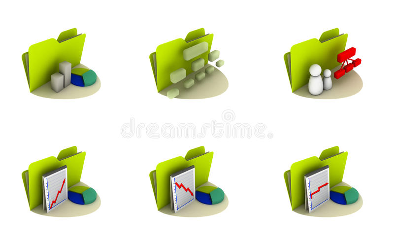 Download Business Icon set stock illustration. Image of success - 9797433