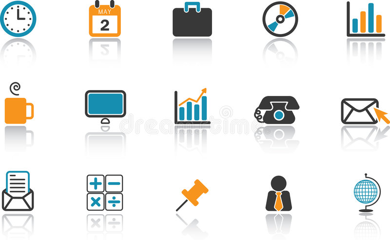 Download Business Icon Set - Blue stock vector. Image of shiny - 6477561