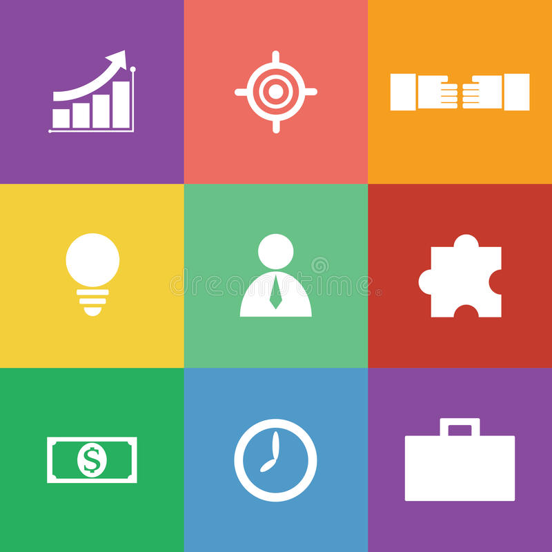 Download Business Icon Set, Flat Design Stock Vector - Image: 33530366