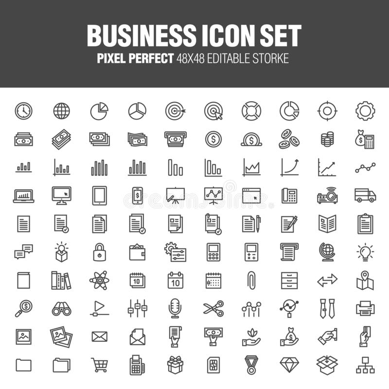 BUSINESS ICON SET vector illustration