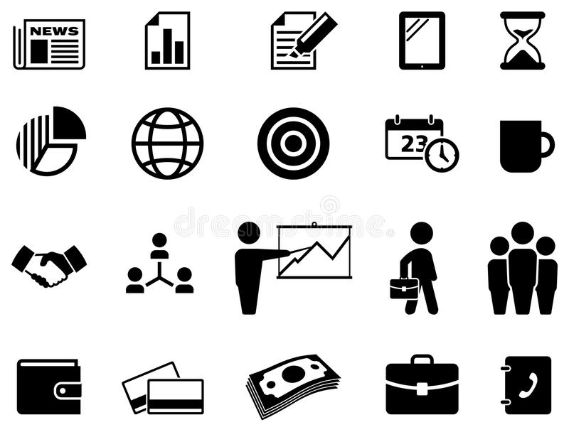 Download Business icon set stock vector. Image of finance, leadership - 40187215