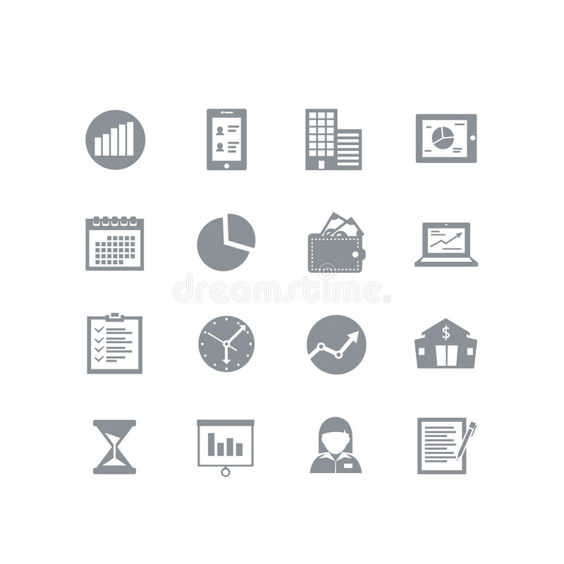 Business icon set vector illustration