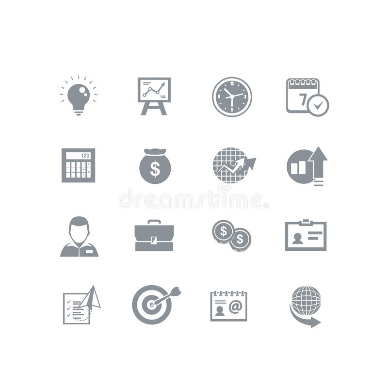 Business icon set royalty free illustration