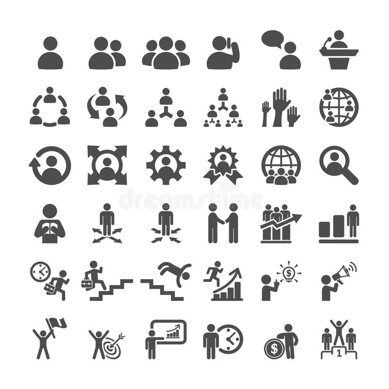 Business icon set, vector eps10 royalty free illustration