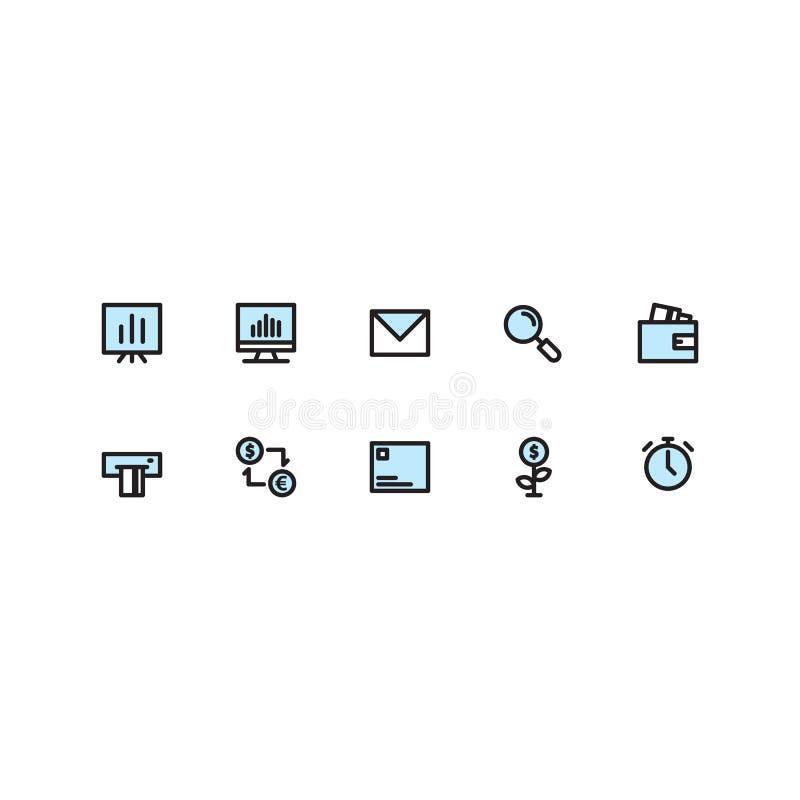 Business Icon Sets Filled Line vector illustration