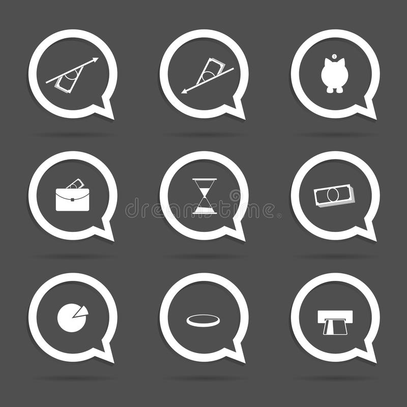 Business icon in speech bubble vector. Illustration vector illustration