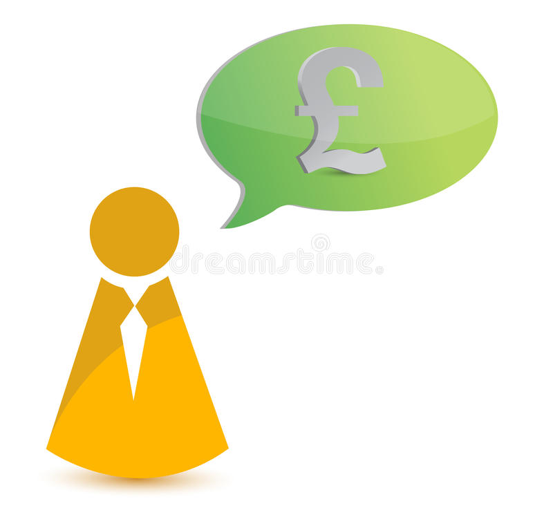 Business Icon Thinking In Money Stock Photo