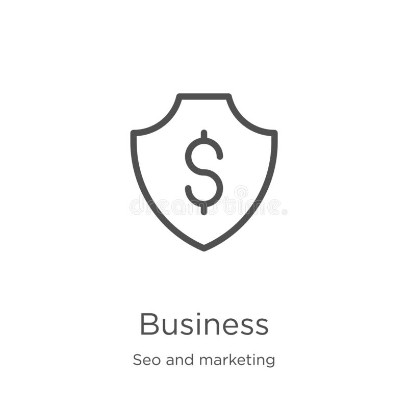 Business icon vector from seo and marketing collection. Thin line business outline icon vector illustration. Outline, thin line. Business icon. Element of seo vector illustration