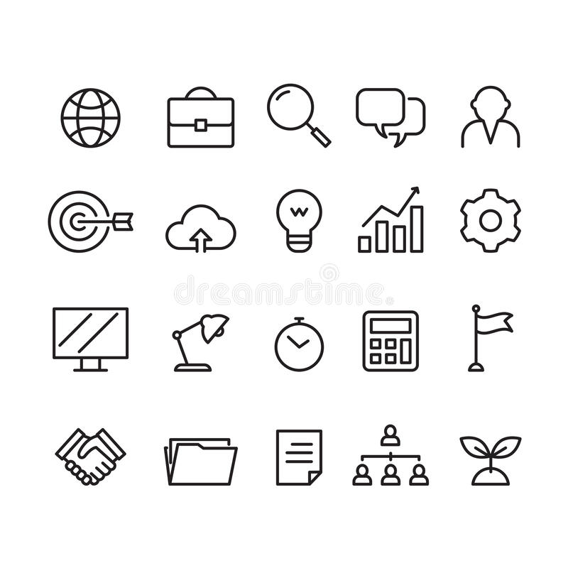 Business icon, vector. Business icon on white background stock illustration