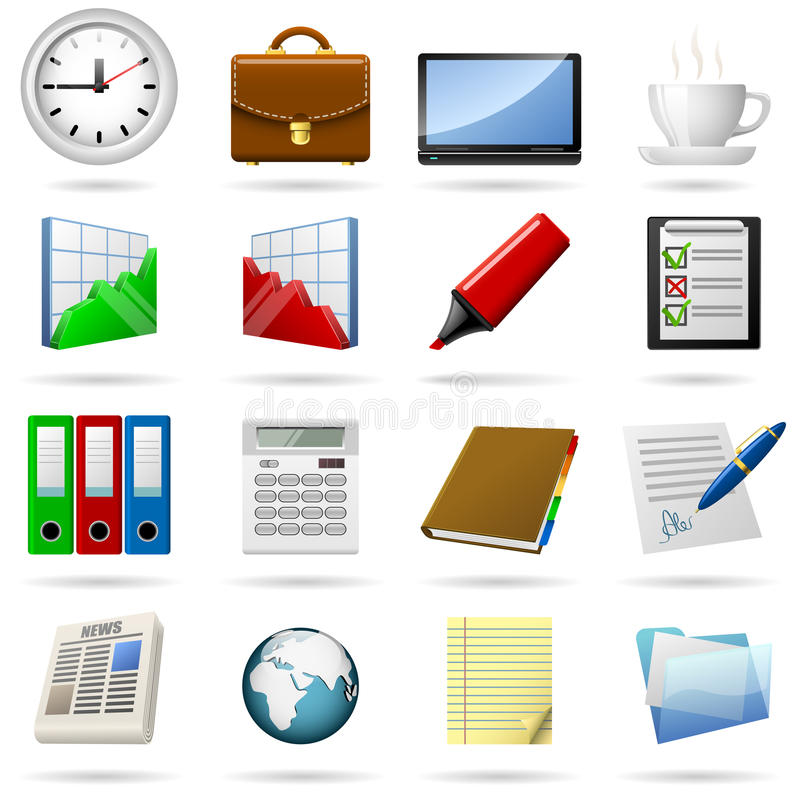 Free Business Icons Royalty Free Stock Photography - 13351247