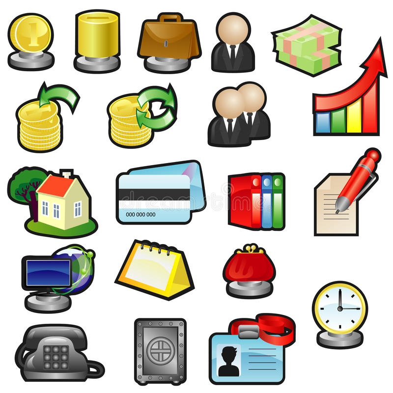 Download Business icons stock vector. Image of glass, monitor - 19161072