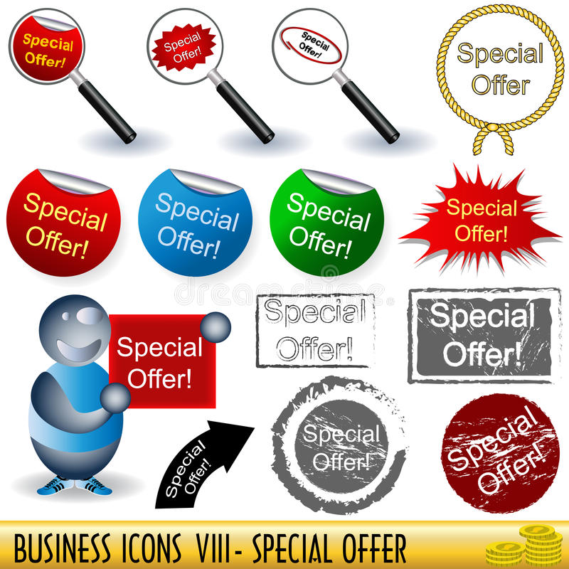 Business Icons 8 Royalty Free Stock Photography