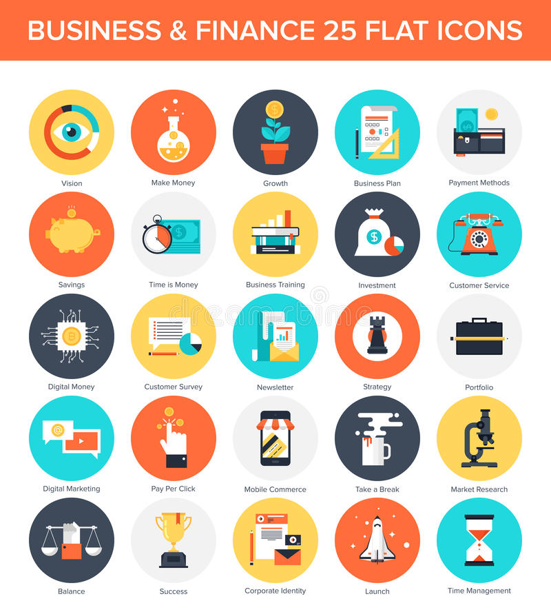 Business Icons. royalty free illustration