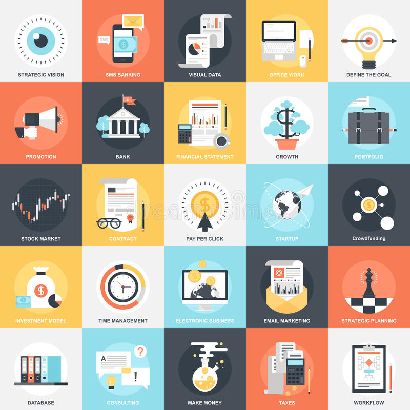 Business Icons. vector illustration