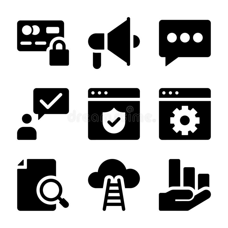 Business Icons Collection royalty free illustration