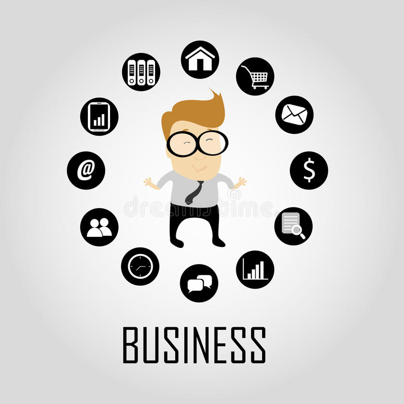 Download Business icons stock vector. Image of abstract, announcement - 31996147