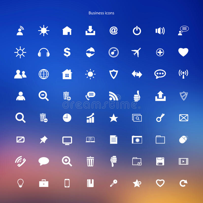 Business icons internet web buttons set stock illustration