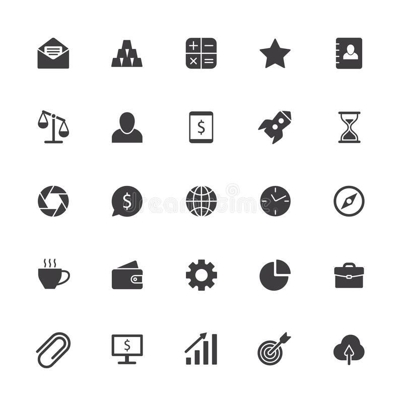 Business icons. Office teamwork sign, business collaboration symbol and product management isolated vector silhouette vector illustration