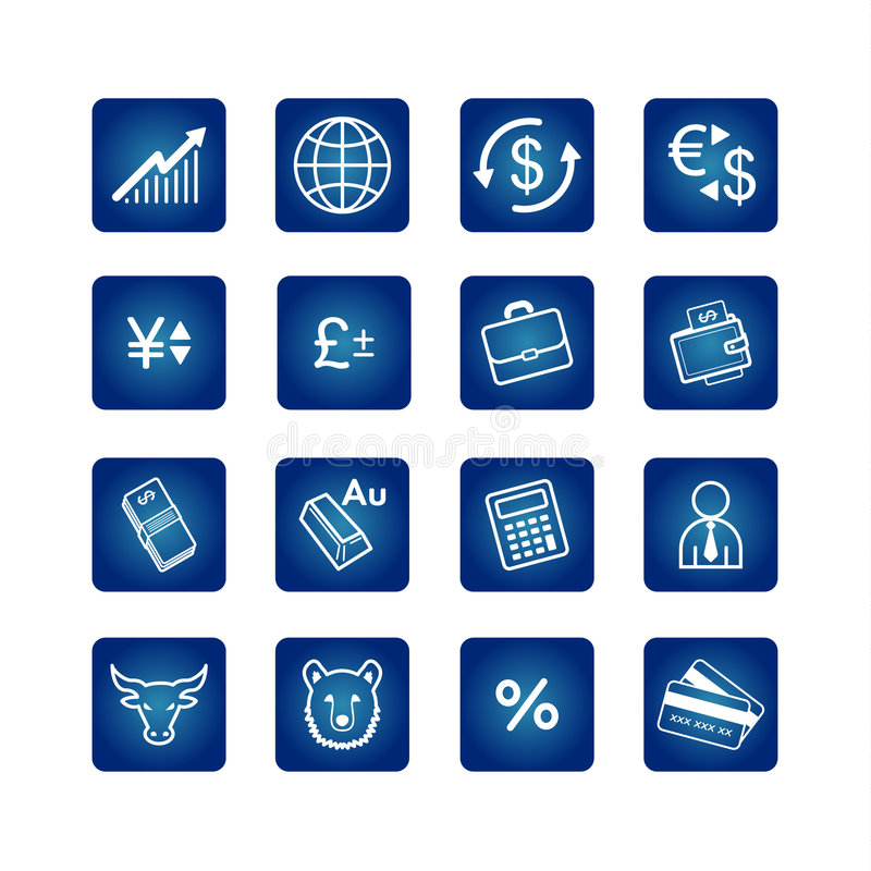 Free Business Icons Set Stock Images - 1729754
